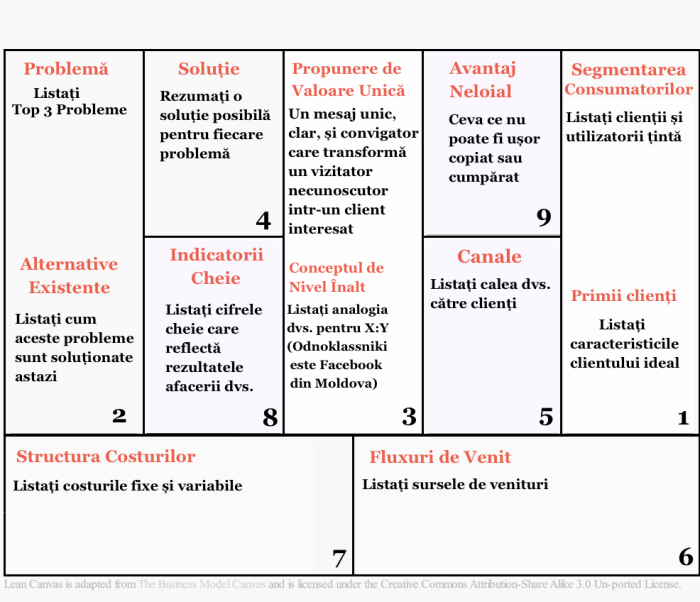 Lean Canvas RO