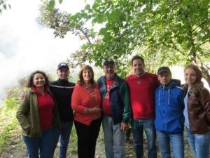 Family visits Leova, Moldova